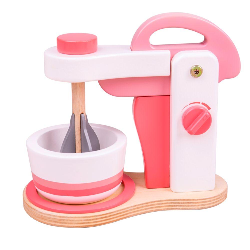 Bigjigs Toys Dřevěný mixér růžový
