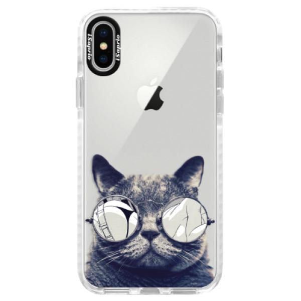 Silikonové pouzdro Bumper iSaprio - Crazy Cat 01 - iPhone X