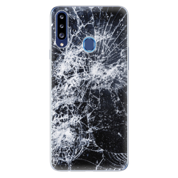 Odolné silikonové pouzdro iSaprio - Cracked - Samsung Galaxy A20s