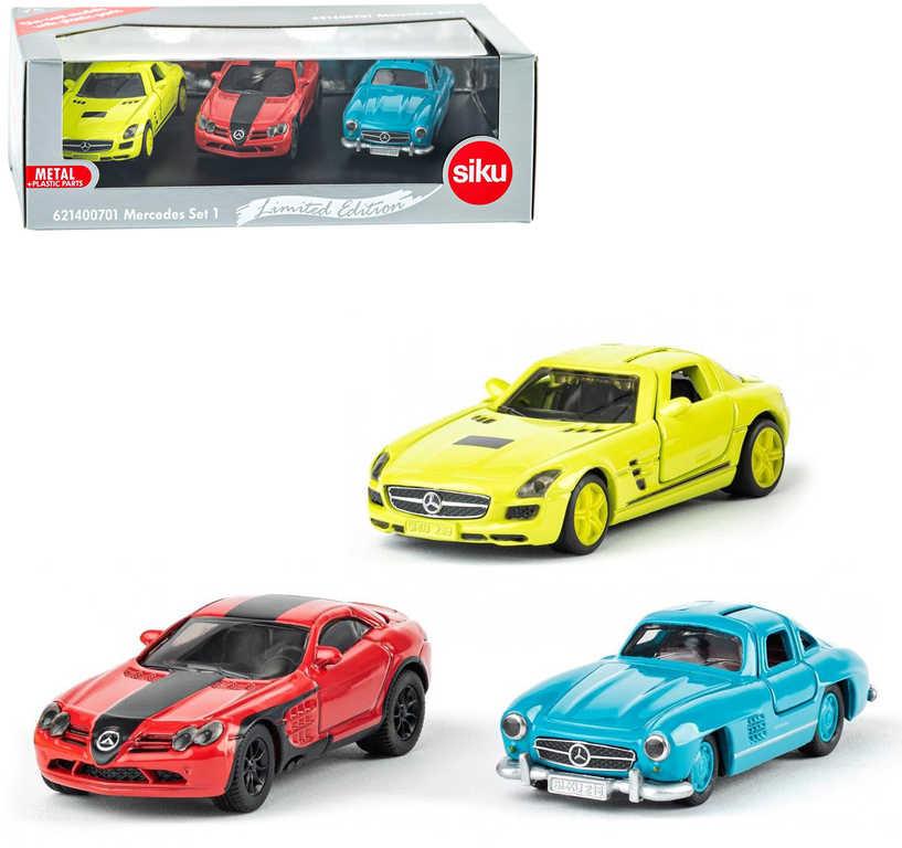SIKU Mercedes-Benz autíčko kovové ikonické set 3ks dárkové balení