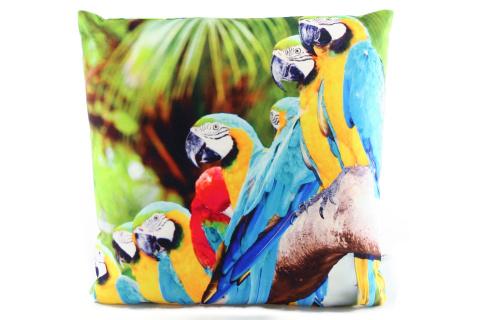 Polštářek 33 x 33 cm papoušci
