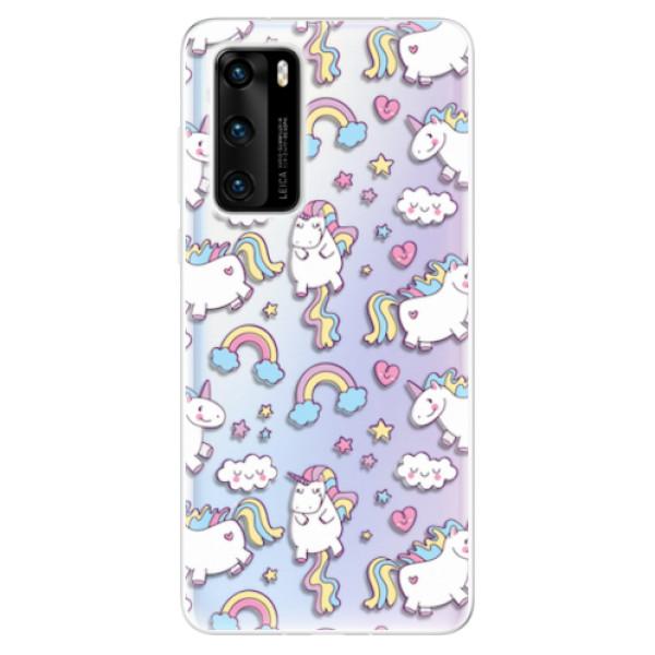Odolné silikonové pouzdro iSaprio - Unicorn pattern 02 - Huawei P40