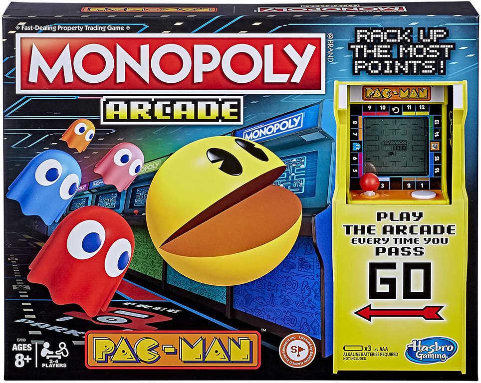 HASBRO Hra MONOPOLY Pac-Man na baterie *SPOLEČENSKÉ HRY*