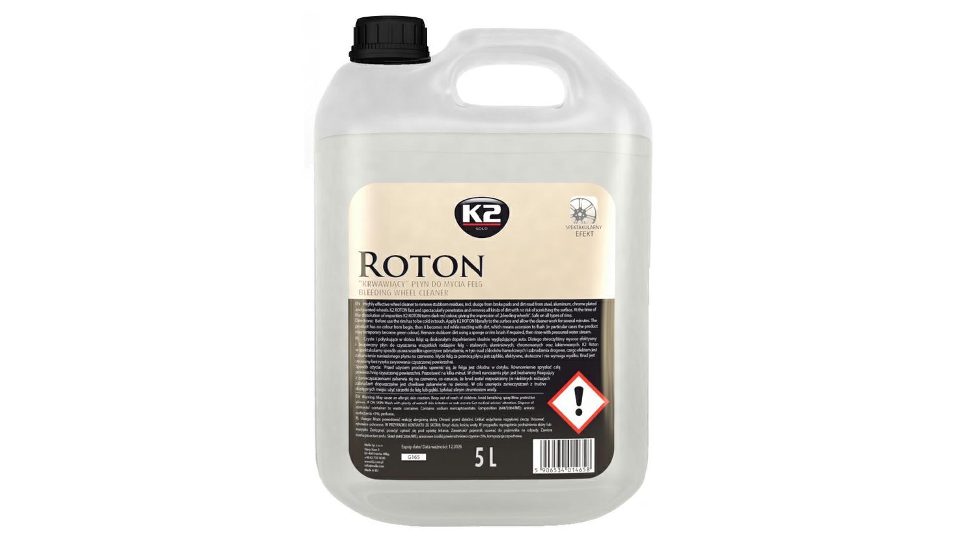 K2 ROTON 5l - profesionální čistič disků kol