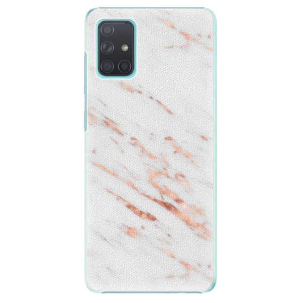 Plastové pouzdro iSaprio - Rose Gold Marble - Samsung Galaxy A71