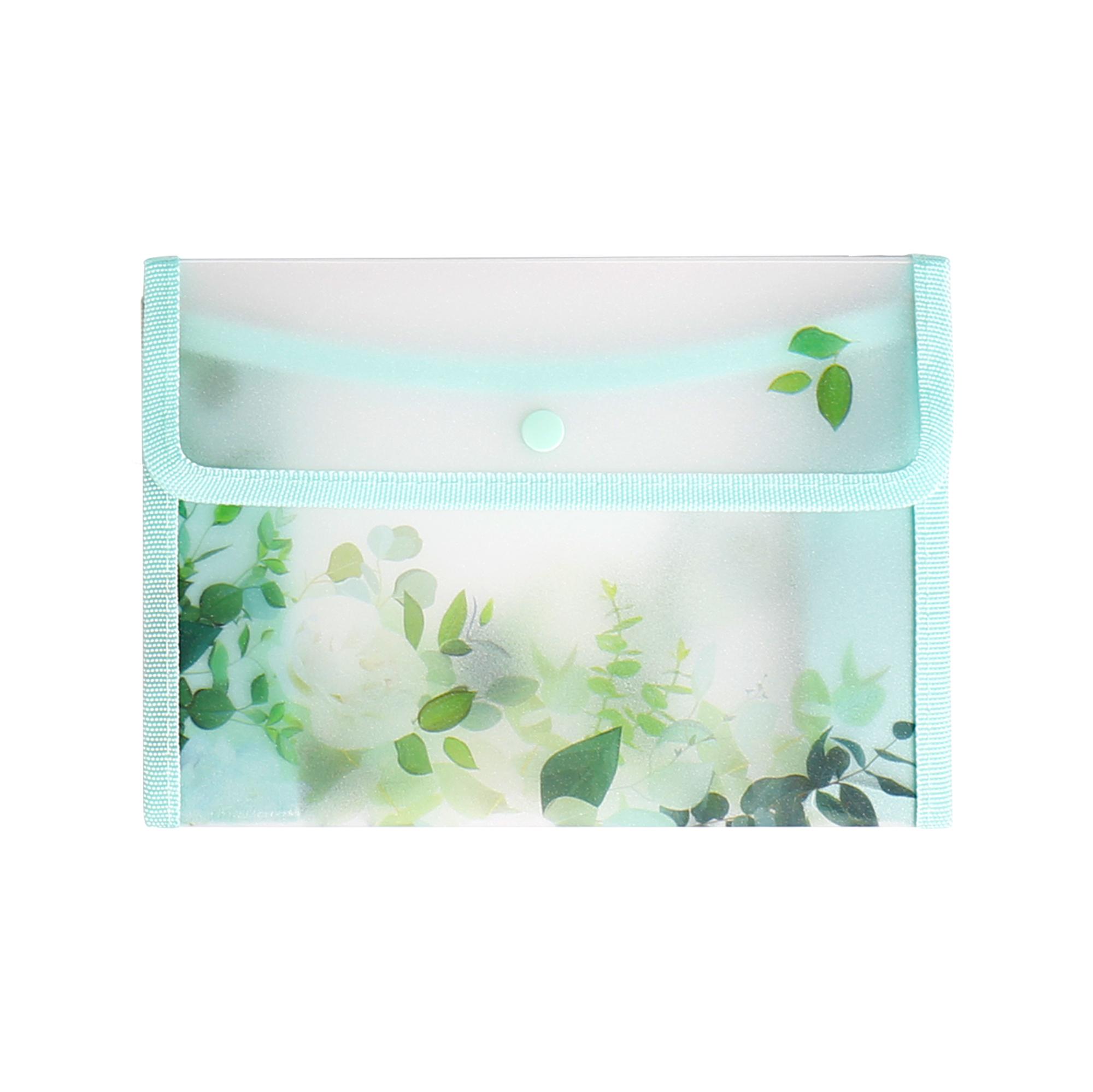 Pouzdro B6 - Zelené květiny