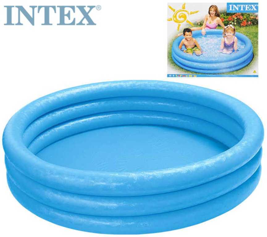 INTEX Bazén kulatý Crystal 147x33cm nafukovací modrý 3 komory 58426