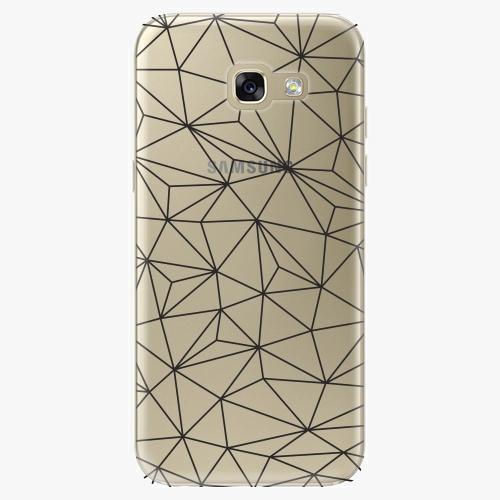 Plastový kryt iSaprio - Abstract Triangles 03 - black - Samsung Galaxy A5 2017