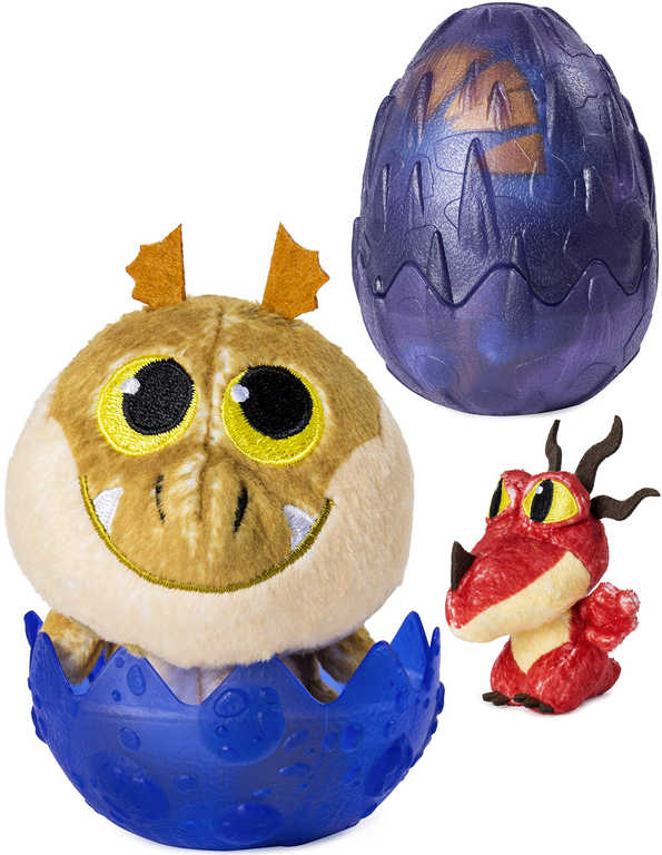 SPIN MASTER Plyšák 7cm dráček ve vajíčku Jak vycvičit draka 3 s překvapením