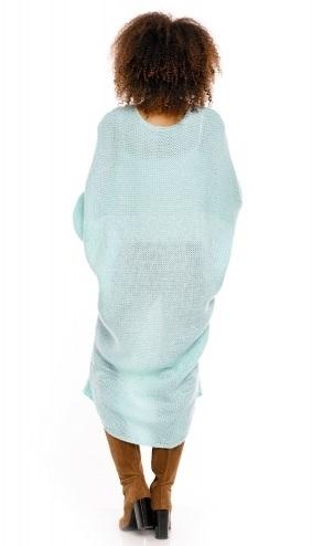 Be MaaMaa Dlouhý pletený těhotenský kardigan - mátový - UNI