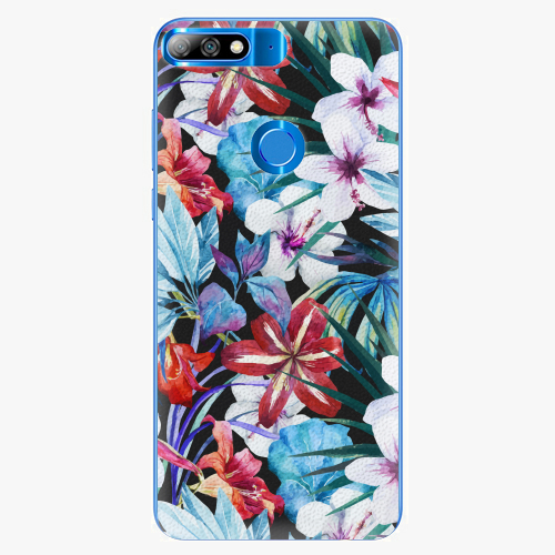 Silikonové pouzdro iSaprio - Tropical Flowers 05 - Huawei Y7 Prime 2018