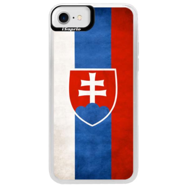 Neonové pouzdro Blue iSaprio - Slovakia Flag - iPhone 7