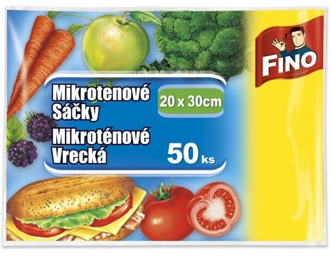 Fino mikrotenové svačinové sáčky, 20 x 30 cm, 7 µm, 50 ks