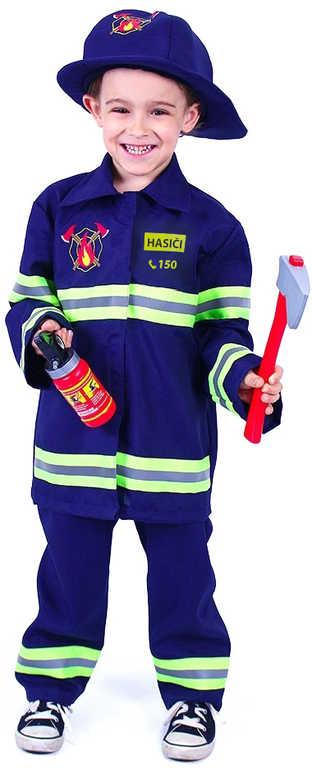 KARNEVAL Šaty hasič s nápisem Hasiči vel.M (116-128 cm) 6-8 let Eko *KOSTÝM*