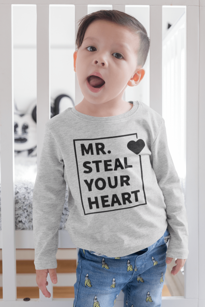 KIDSBEE Chlapecké bavlněné tričko MR. Steal your heart - sv.