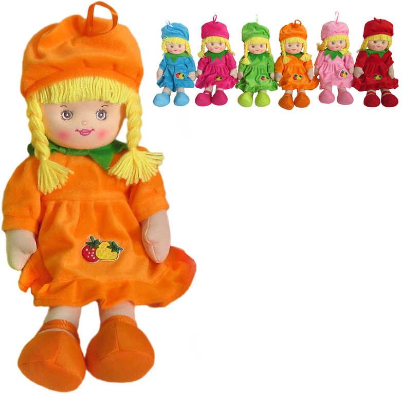 PLYŠ Panenka Ovocněnka 40 cm s copánky s čepečkem - 6 barev
