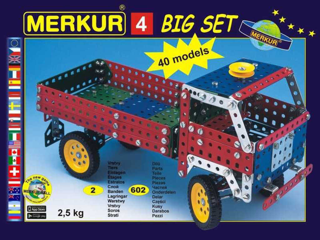 MERKUR 4 Big set * KOVOVÁ STAVEBNICE *