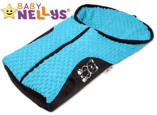 Fusák nejen do autosedačky Baby Nellys ® MINKY - modrý, tyrkys