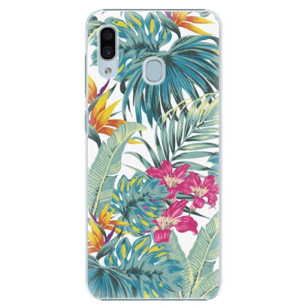 Plastové pouzdro iSaprio - Tropical White 03 - Samsung Galaxy A30