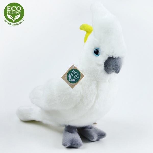 Plyšový papoušek kakadu 17 cm ECO-FRIENDLY