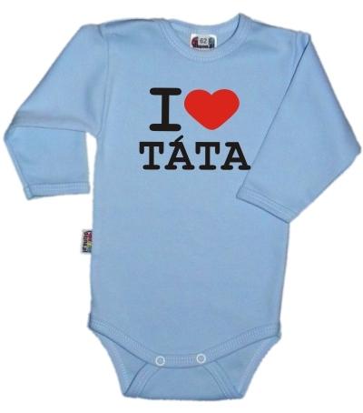 baby-dejna-body-dl-rukav-kolekce-i-love-tata-sv-modre-vel-80-80-9-12m