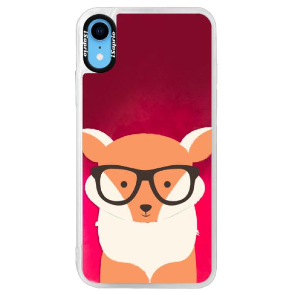Neonové pouzdro Pink iSaprio - Orange Fox - iPhone XR