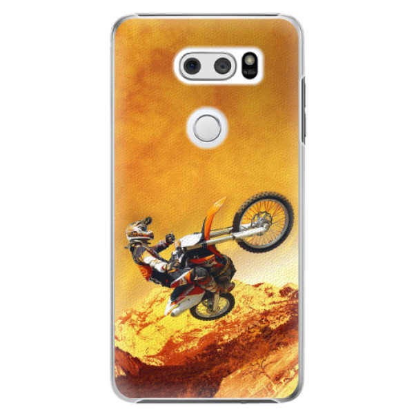 Plastové pouzdro iSaprio - Motocross - LG V30