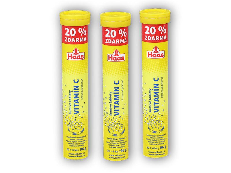 3x Haas Vitamin C citron 24 šumivých tablet