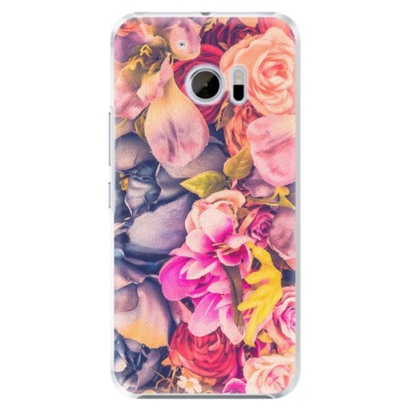 Plastové pouzdro iSaprio - Beauty Flowers - HTC 10