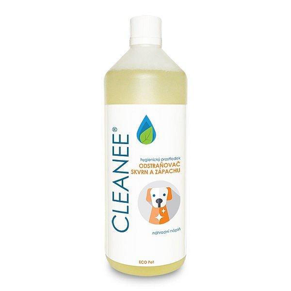 CLEANEE ECO Pet hygienický odstraňovač skvrn a zápachu - náhradní náplň 1 L