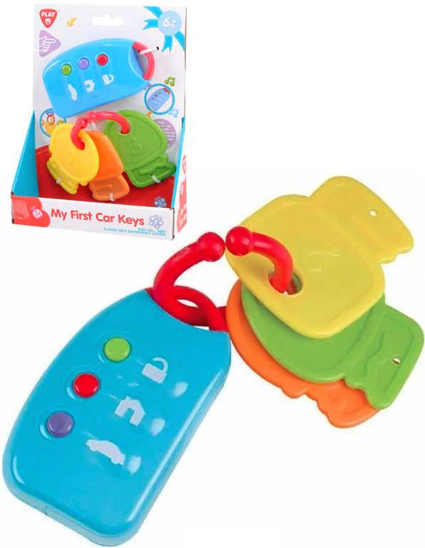 Baby auto klíče + dálkové ovládání na baterie Světlo Zvuk kousátko pro miminko
