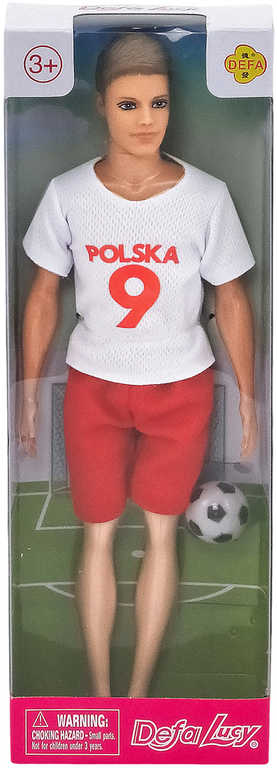 Panenka Defa panák fotbalista 30cm v dresu Polsko set hráč s míčem