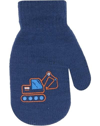 Klučičí akrylové rukavičky, oteplené YO - se šňůrkou, tm.
