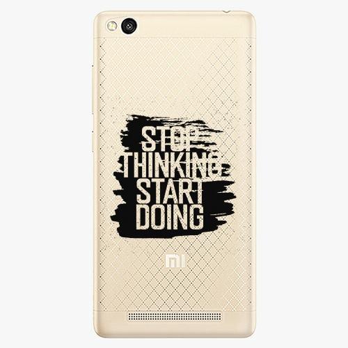 Plastový kryt iSaprio - Start Doing - black - Xiaomi Redmi 3