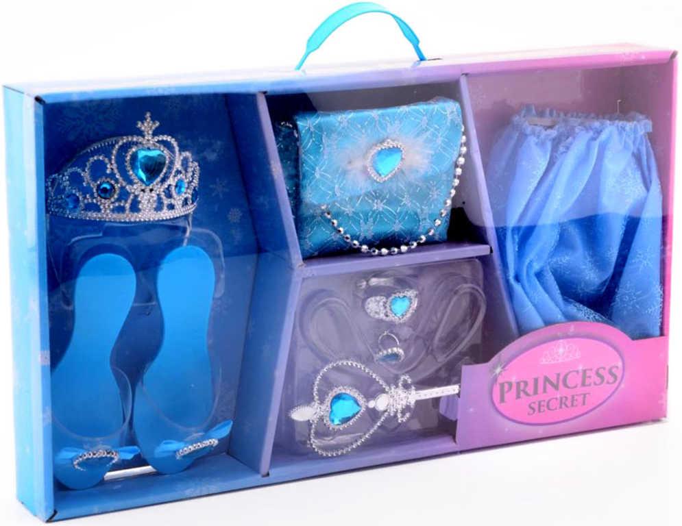 KARNEVAL Ledová princezna velká sada kabelka se střevíčky a doplňky v krabici