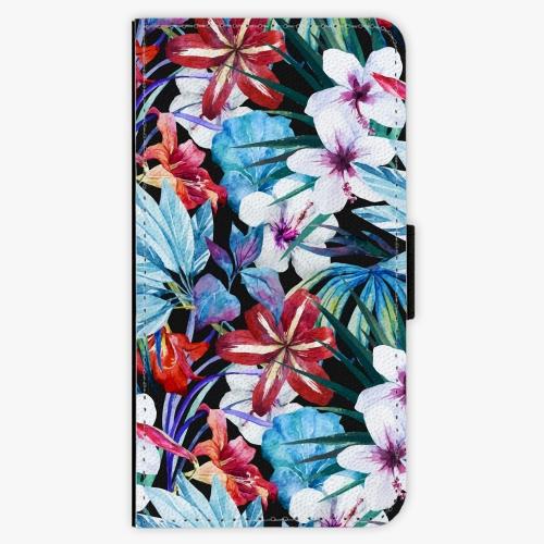 Flipové pouzdro iSaprio - Tropical Flowers 05 - Lenovo Moto G4 / G4 Plus