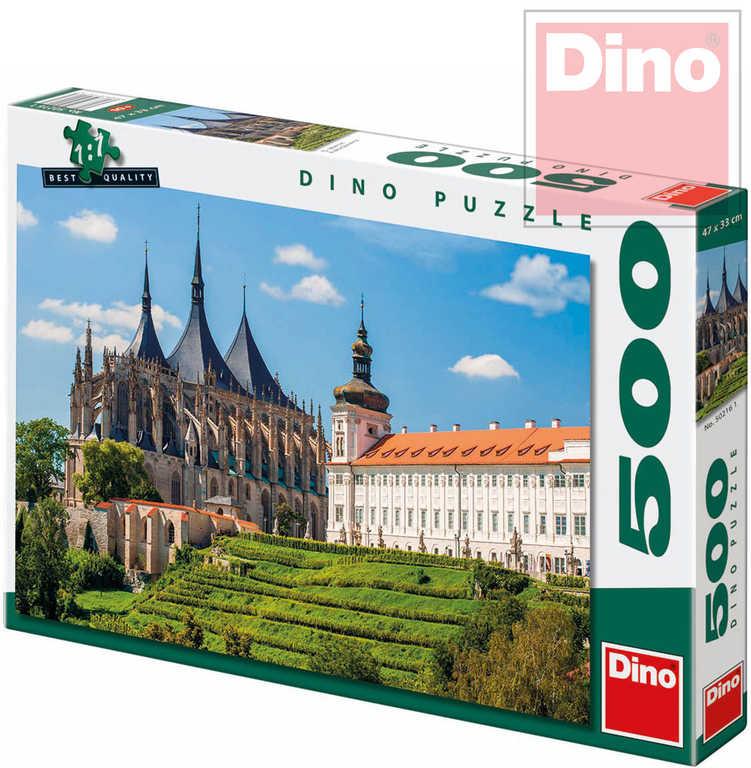 DINO Puzzle 500 dílků Chrám svaté Barbory 47x33cm v krabici