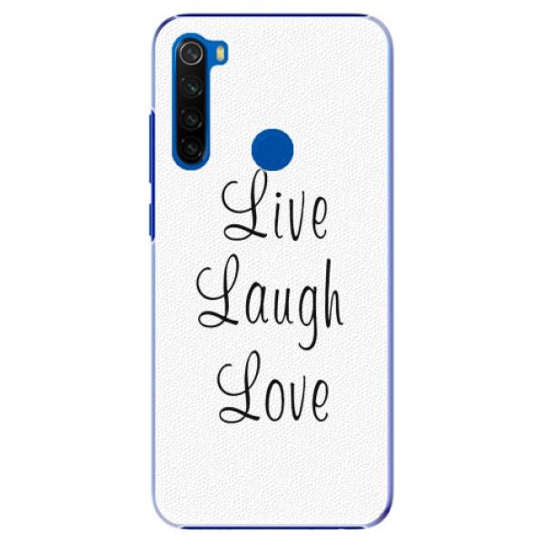 Plastové pouzdro iSaprio - Live Laugh Love - Xiaomi Redmi Note 8T