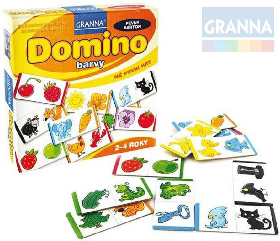 GRANNA Hra Mé první hry - Domino barvy