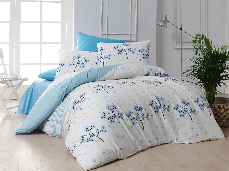Povlečení francouzské bavlna 240x220,70x90 Viola blue, Výběr zapínání: zipový uzávěr
