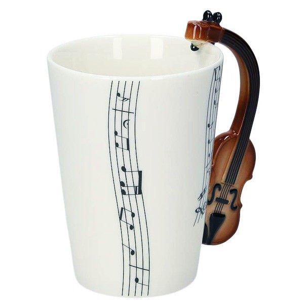 Hudební hrnek - housle
