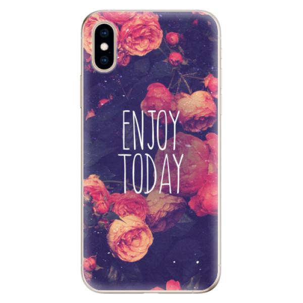 Odolné silikonové pouzdro iSaprio - Enjoy Today - iPhone XS