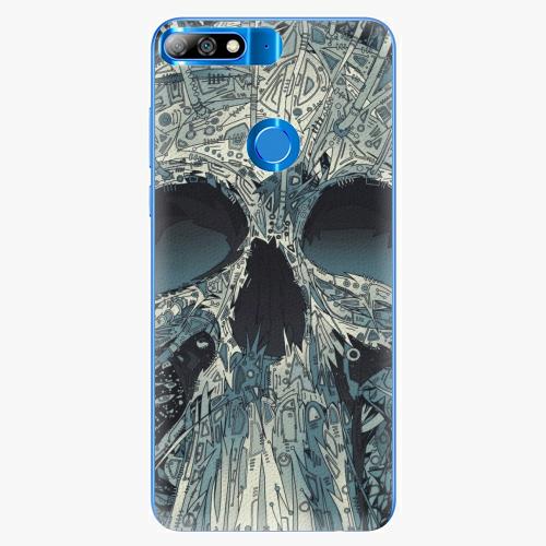 Silikonové pouzdro iSaprio - Abstract Skull - Huawei Y7 Prime 2018