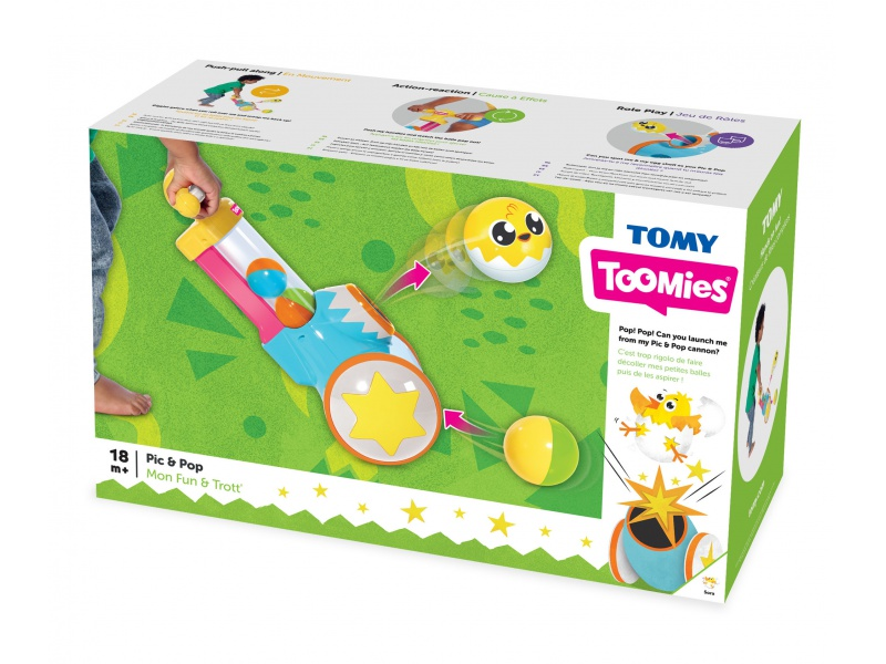 TOOMIES - Chodítko s vystřelovacími míčky