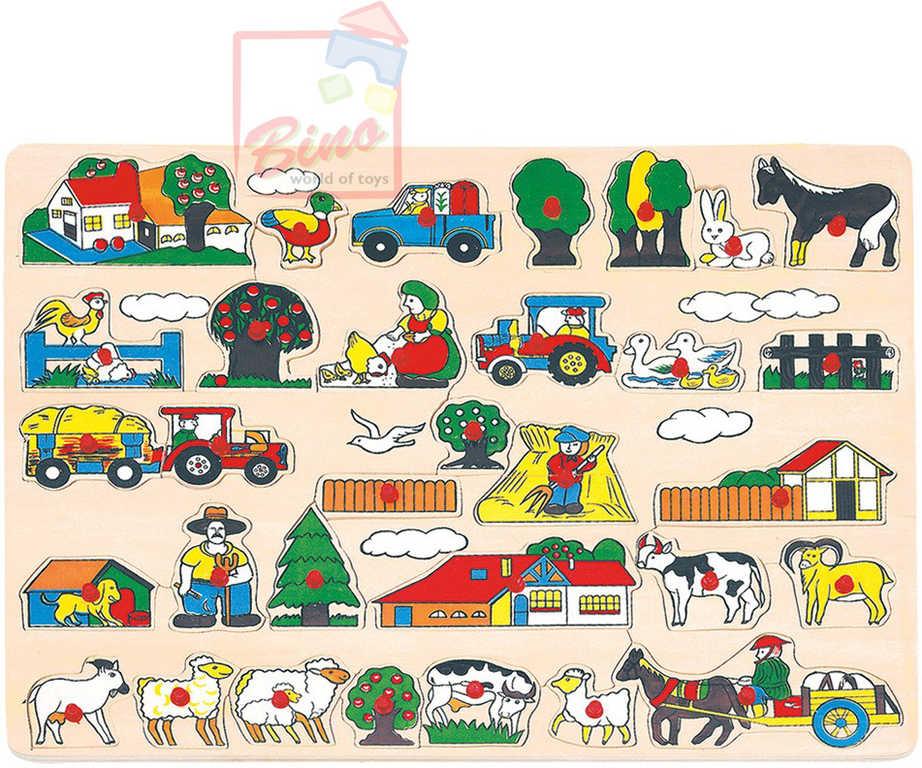 BINO DŘEVO Puzzle velké zvířata 88073 *DŘEVĚNÉ HRAČKY*