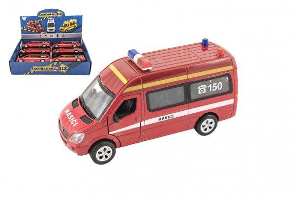 Auto hasiči 15cm na baterie se světlem se zvukem