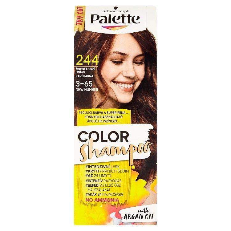 Schwarzkopf Color Shampoo barva na vlasy Čokoládově hnědý 244 (3-65)