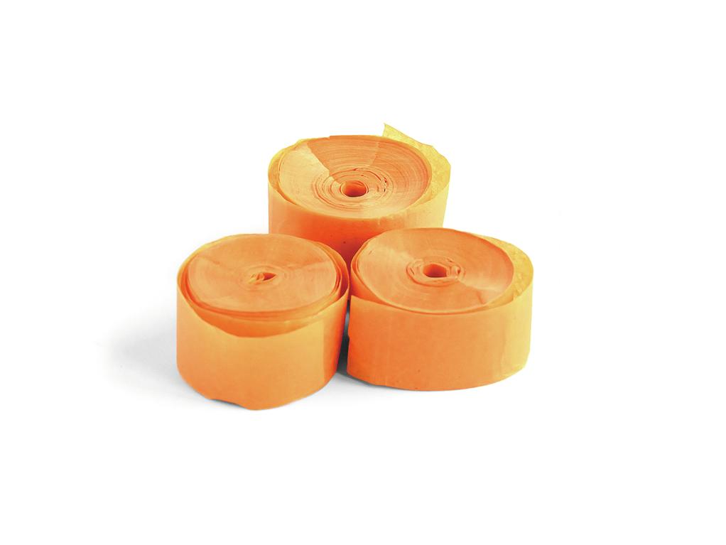 Tcm Fx pomalu padající konfety-serpentýny 10mx1.5cm, oranžové, 32x
