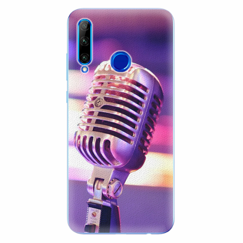 Silikonové pouzdro iSaprio - Vintage Microphone - Huawei Honor 20 Lite
