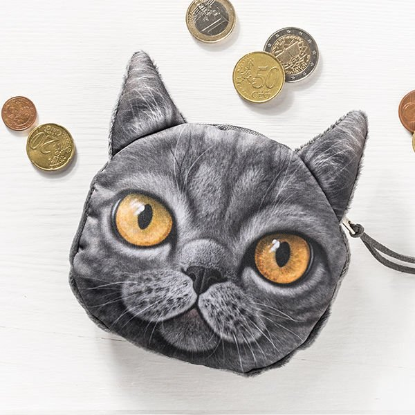 Kočičí peněženka na drobné - model - 4